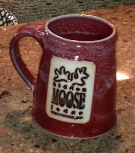 Whitefish Pottery makes our custom Hidden Moose coffee mugs.