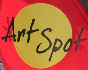 Look for the Art Spot flag outside of participating galleries and shops.