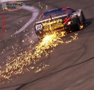 Sparks fly at Montana Raceway Park, just south of Whitefish