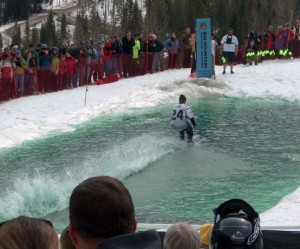 Pond Skimming at the Whitefish Mountain Resort is an end-of-ski-season highlight.  This year it takes place on April 6, 2013.