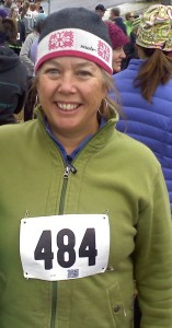 Kim at the start of the 2012 Turkey Trot.  Look for Kim burning up the competition at this year's Whitefish Lake Run.  Watch out Velma!