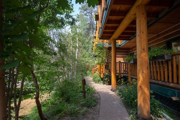 Walking Path Whitefish Montana Hidden Moose Lodge