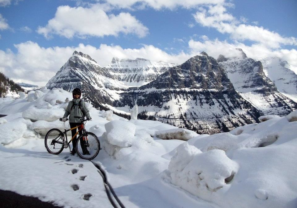 Spring Cycling the Going to the Sun Road
