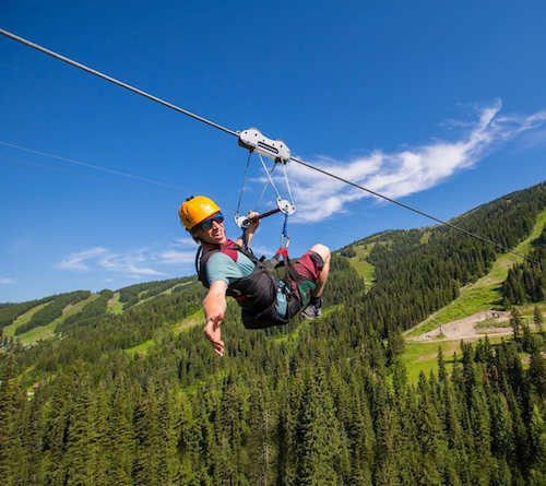 Zip Line whitefish mountain resort