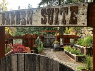 Our nice weather luck is about to run out so until next year Garden Suite flowers, you had a good run this year! #gardensuite #secretgarden #courtyard #yourveryown #bedandbreakfast #comestaywithus #whitefishmontana #indiansummer #oneofakind #lodge #lodging #hotel