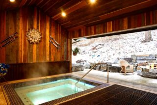 Around here, it's a good thing to find yourself in hot water ;) #bedandbreakfast #skilodge #lodging #hottub #relax #vacation #comeplay #comestay #hotel #whitefishmontana #destinationvacation #skiandstay #mountainliving #unqiue